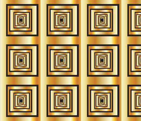 Twilight Zone Gold Squares fabric by fabric_is_my_name on Spoonflower - custom fabric