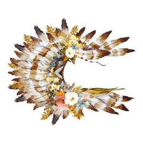 "8"" Autumn Love Floral Headdress - 90 Degrees"