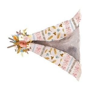 "8"" Autumn Love Teepee - White - 90 Degrees"