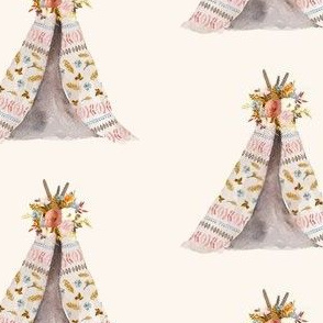 "4"" Autumn Love Teepee - Ivory"