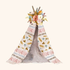 "8"" Autumn Love Teepee - Ivory"