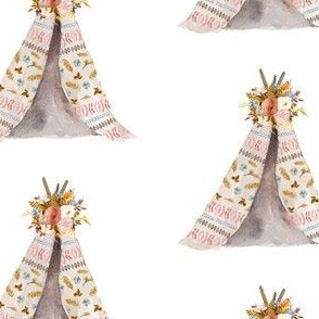 "4"" Autumn Love Teepee - White"