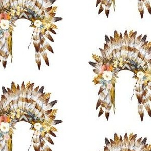 "4"" Autumn Love Floral Headdress - White"