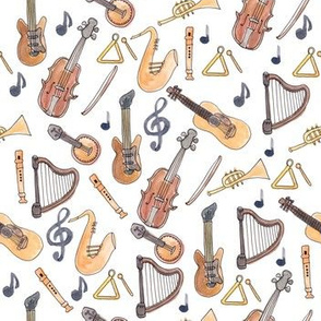 Musical Instruments in Watercolor
