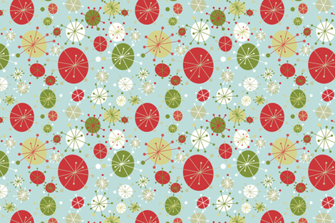 Christmas Mod TeaTowel fabric by tiffanyaryee on Spoonflower - custom fabric