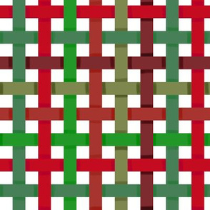 Woven Red and Green Christmas Ribbons
