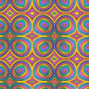 Rainbow Ring Waves - Pride Rainbow - 100 Ways Series
