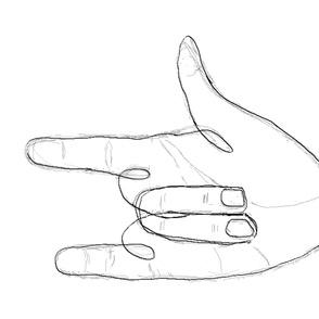 "Hand Symbol ""I Love You"""