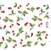 cherries  in my Kitchen 2019 calendar