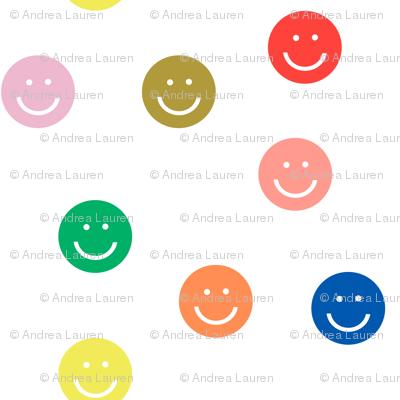 rainbow smiley // cute happy smiles, smiley face, emoji, 90s, retro