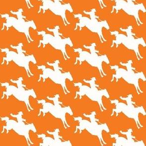 Rodeo Cowboys - ivory & orange