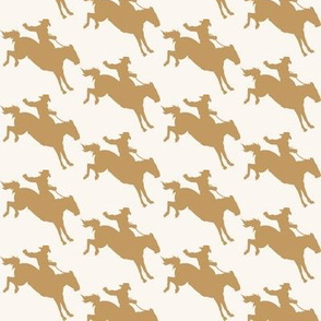 Rodeo Cowboys - Taupe & Ivory