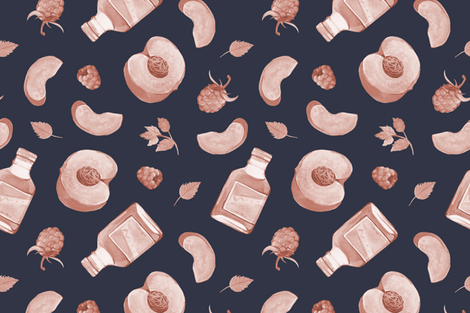 peach and berry cocktail  fabric by noristudio on Spoonflower - custom fabric