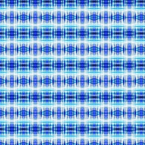 Watery Plaid with Diamonds