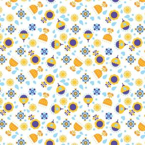 fun geometrical flowers