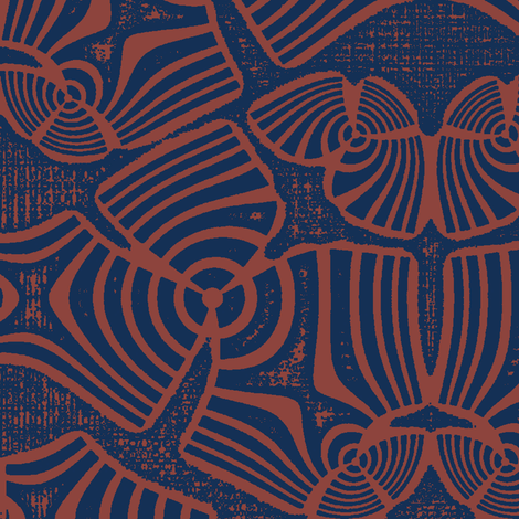 Zebran Shell (Rust) fabric by david_kent_collections on Spoonflower - custom fabric