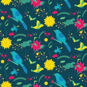 summer birds pattern