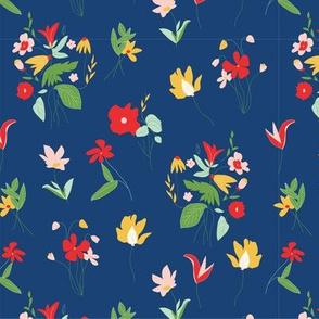 Fashionable Botanicals on Blue