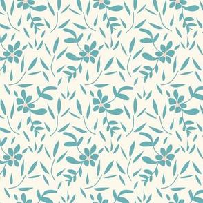 Baby Blue Floral and Leaf Blender