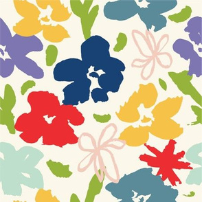 Loose Abstract Floral Retro