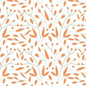 Peach Leaves Blender Print