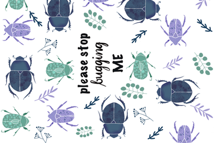 Bugs and leaves fabric by dyes_and_pigments on Spoonflower - custom fabric