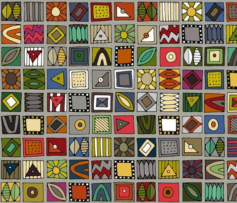 el geo stone fabric by scrummy on Spoonflower - custom fabric