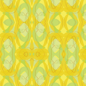 Midcentury Endpaper Green Background-01
