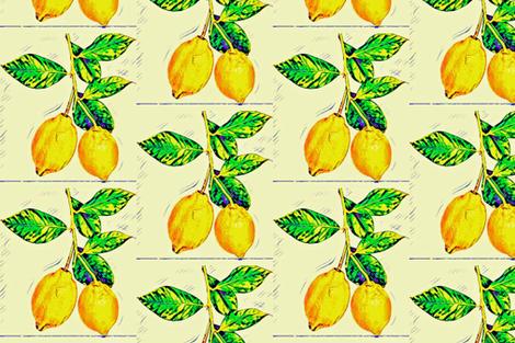 Lemon Branch fabric by tragik_beauty on Spoonflower - custom fabric