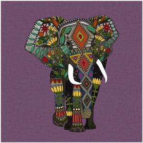 floral elephant violet 18 inch panel
