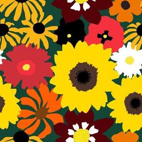 Retro Fall Flowers