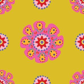 Mardi Gras Medallions Yellow