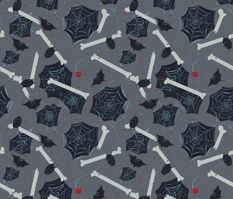 Bats and Cobwebs fabric by jezpokili on Spoonflower - custom fabric