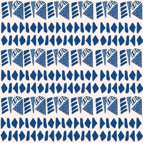Textured geometric stripe in navy