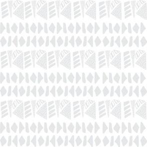 Textured geometric stripe on light grey
