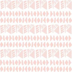 Textured geometric stripe in pink