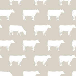 cows on beige - farm fabric
