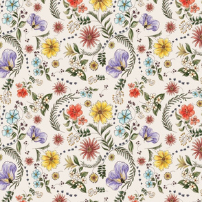 Florida Wildflowers-Cream