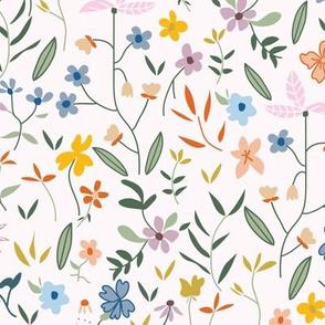 Hand-drawn Wildflowers on Light