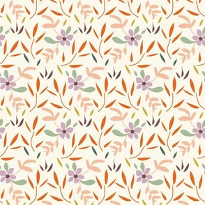 Retro Coordinate Floral