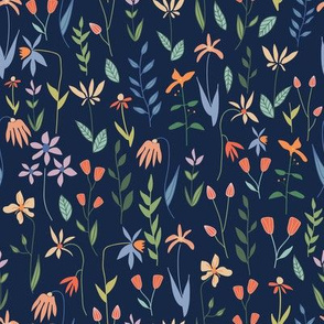 Pretty Botanicals on Navy