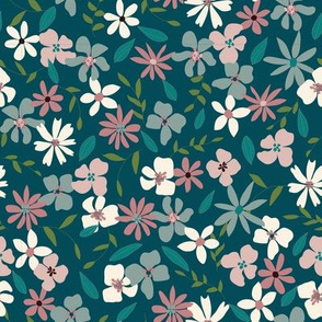 70's Retro Layered Floral