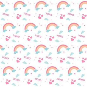 rainbow xoxo -SMALL2 - pink
