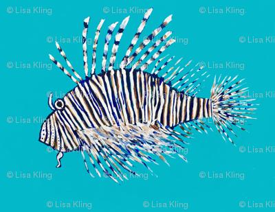 Lion Fish - gender neutral nursery wallpaper LARGE