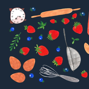 TeaTowel Blueberry pie