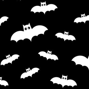 bats on black » halloween monochrome