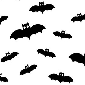 bats on white » halloween monochrome