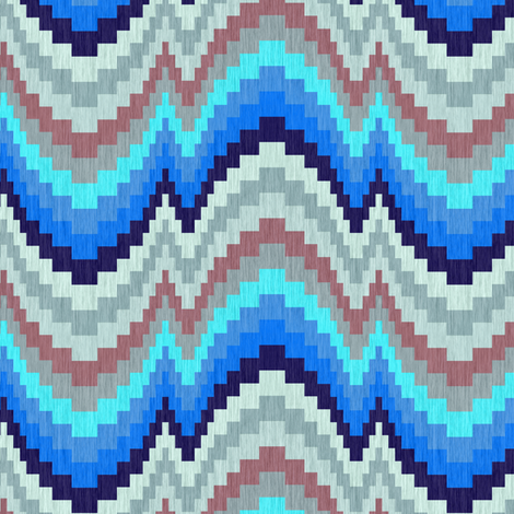 Twilight Shadows Bargello fabric by eclectic_house on Spoonflower - custom fabric