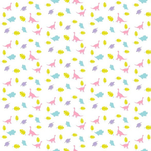 dinos MEd525 - fun in leaves -pink mint