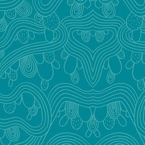 Cactus Abstract   Blue